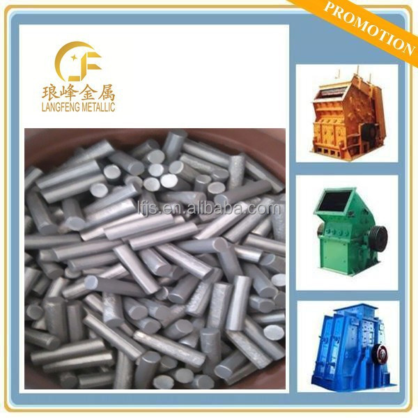 Titanium carbide cermet pins for manganese wear parts 2.5 times life increased