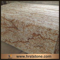 Brazil Verniz Tropical Gold Granite Polished Slabs for sale