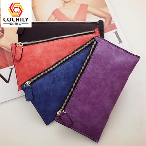 Simple design custom Cheap promotional PU leather women wallet