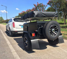D2 Black Offroad Camping Tent Travel Trailer for 4WD Car