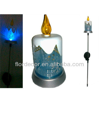 Solar Powered Color Changing Candle Garden Stake Light LED Christmas Decoration Solar Lawn Light Mult-color
