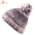 2017 new style Womens Novelty Casual Warm Retro Crochet Acrylic Cable Knitted Skull Pom Pom Beanies cap ski winter hat