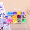 DIY color elastic rubber band violin box knitting machine woven rubber supplier rainbow