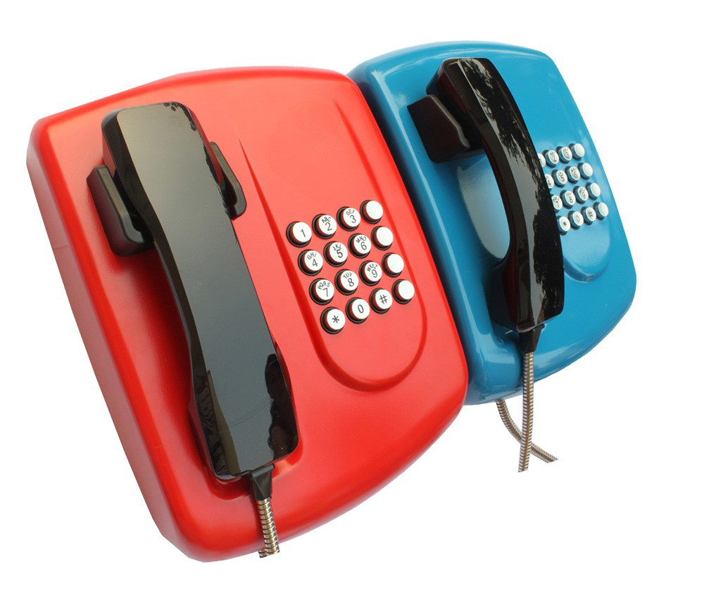 Armored Cord Handset bank Phone / Corded Telephone with KNZD-04 low price