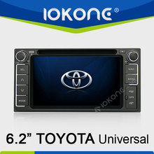 6.2'' touch screen 2 din in dash toyota terios car radio tv dvd with gps bluetooth ipod