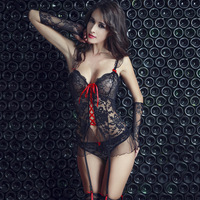 Beautiful Girl Lace Japanese Mature Women Sexy Lingerie with Accessories