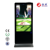 55 inch Free Standing Vertical LCD Advertising Display Monitor