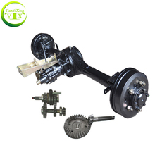 auto rickshaw electric motor driving differential rear axle