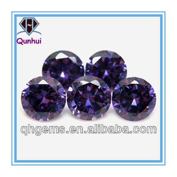 37 board tortoise face round shaped purple cz stone