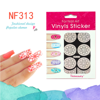 2016New product Nail Stencil Guide Vinyl Decal Sticker Sticker Hollow Tip Guides nail art stickers