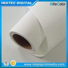 260Gsm Matte Waterproof Wide Format Inkjet Polyester Canvas Roll 44 inches for Epson Digital Printing