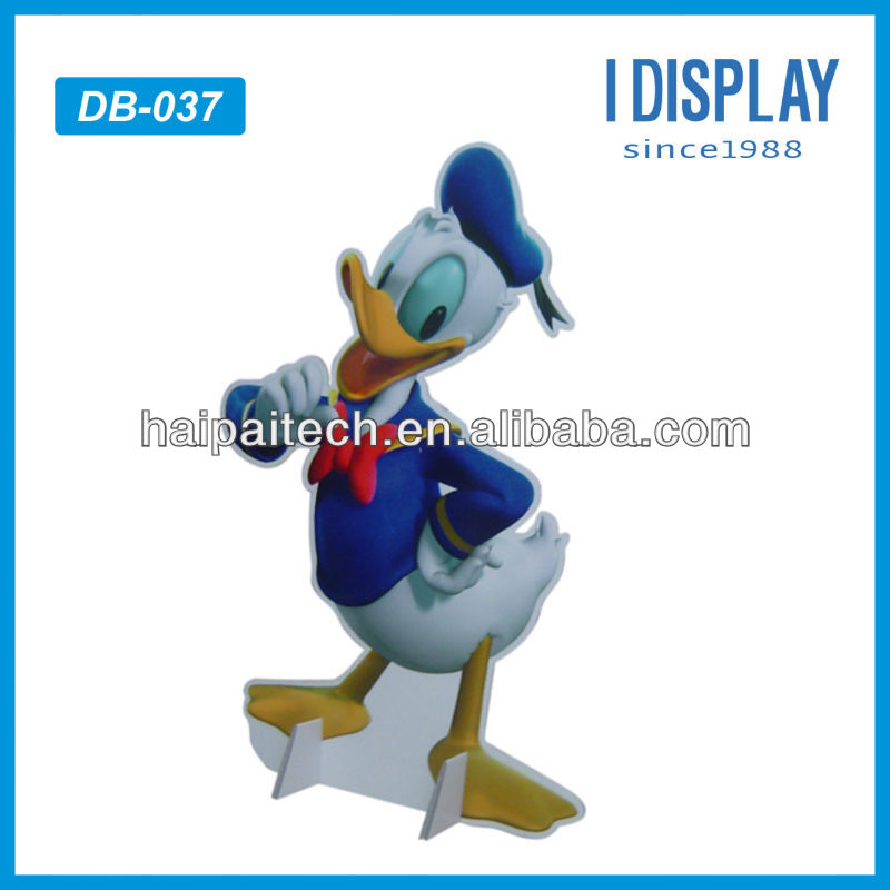 Cartoon 3d picture characters advertising standee