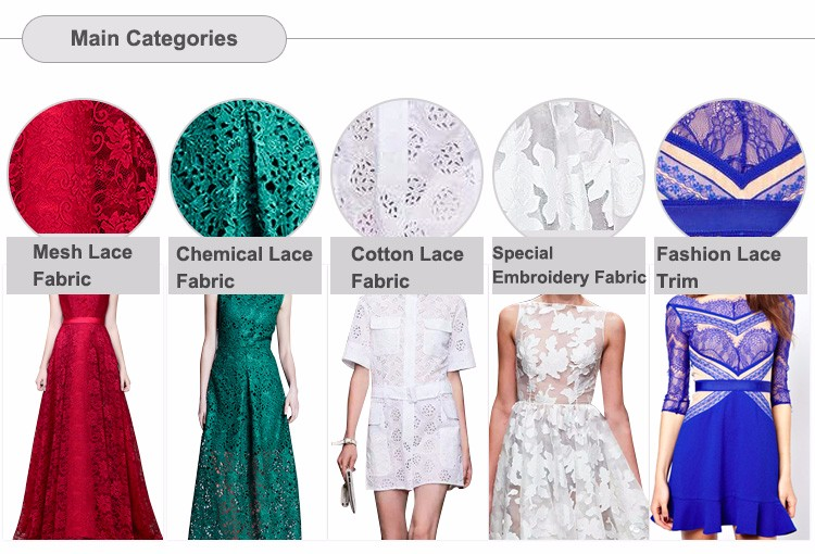 Recyclable sequins 3d flower embroidery lace fabric for lady dress