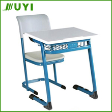 JY-105 school desk with attached chair modern student table and chair
