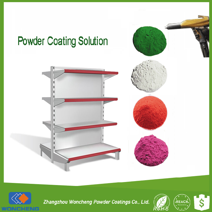 Professional Supermarket Display Racks Powder Coating