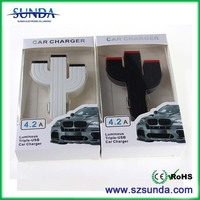 Alibaba express 4.2A 3 usb port phone charger power craft car battery charger