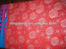 big rose 100% polyester microfiber pearl print soft peach skin fabric