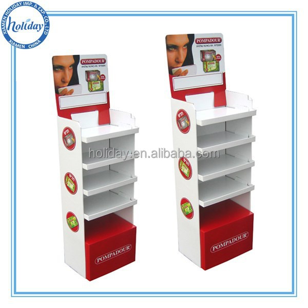 Holiday Cardboard Stand Up Display Cardboard Display Case Pop Cosmetic Display Shlef