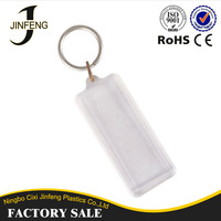 Customized Your Own Logo Promotion Gift plastic keychain photo holder