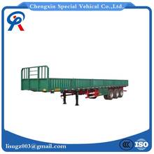 40f 50t flabed side wall open platform semi trailer with good quality