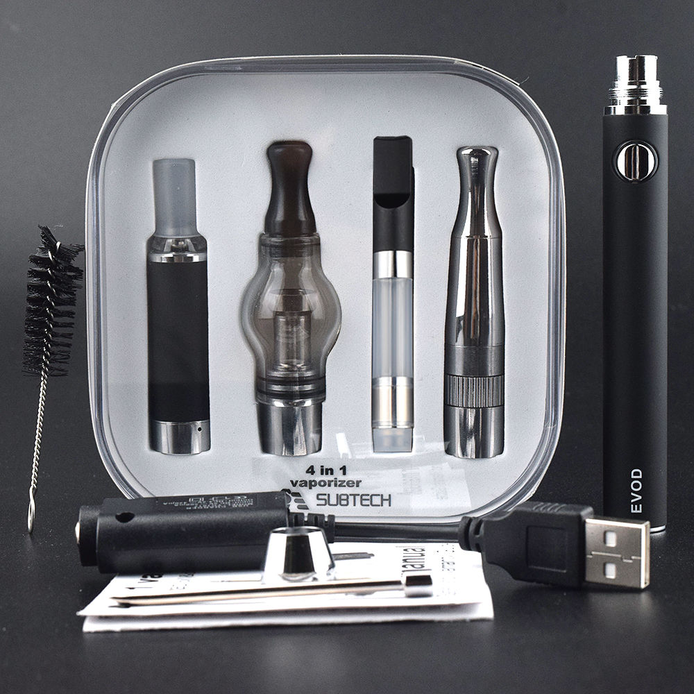 NEW Package E-Cig 4 in 1 Dry Herb Vaporizer with 4 Atomizer for Choice