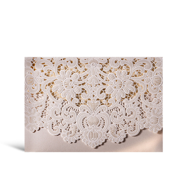 Wishmade Factory Wholesale Wedding Greeting Cards Pearl Paper Invitation Card Birthday Card