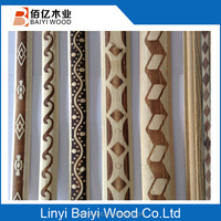 Poplar Flat wood mouldings used for Decoration