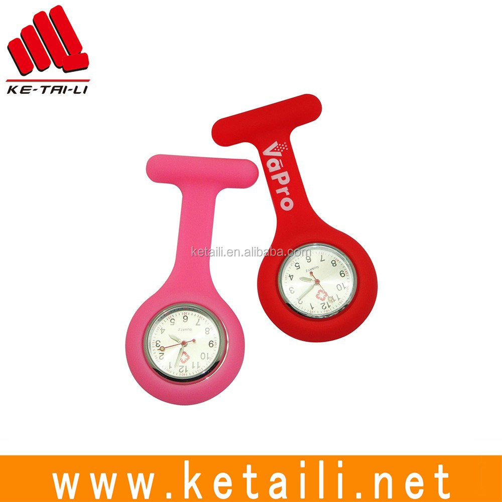 High quality silicone rubber Japanese movement jelly quartz nurse watch with LOW MOQ