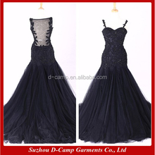 WD326 Real sample navy blue color shanghai wedding dress evening