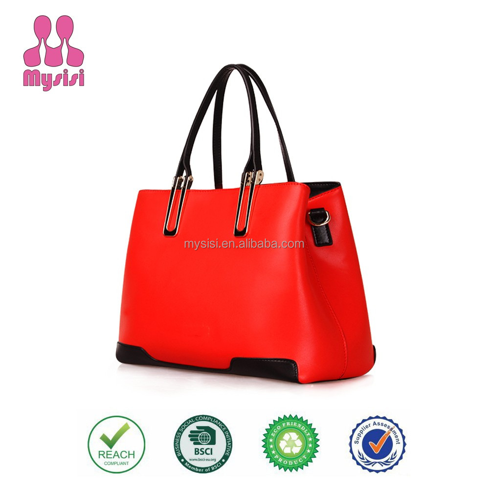 Mysisi Brand Fashion Handbags 2015 100% PU Leather Women Handbag for Office and Leisure Use Modern Lady Bags
