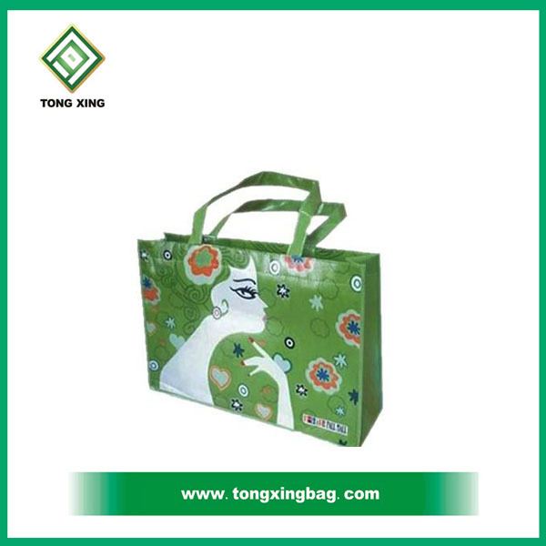 Laminated green Non Woven Monster High Bag