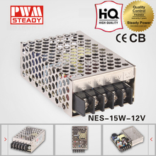 High performance 15w centralized power supply 12v 1.25a switching power supply 12 volt 1.25 amp ac dc led smps NES-15-12
