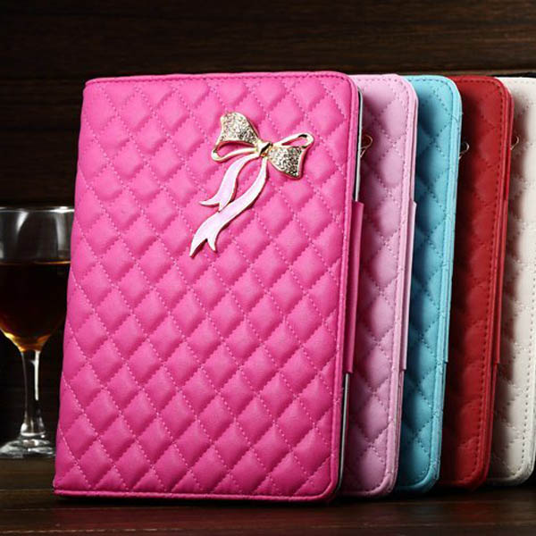 high quality kid-lambskin flip stand leather case for ipad mini retina case