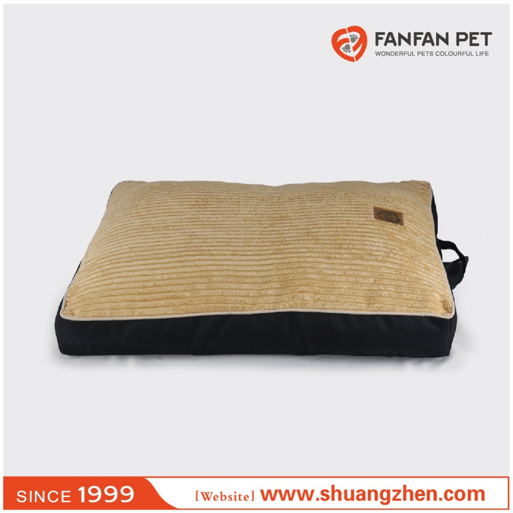 Pet product luxury handmade wide chenille large dog bed