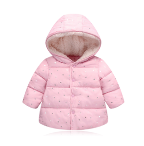 2019 new girl's cotton coat autumn and winter 1-5 years old children cotton wear children small cotton-padded jacket baby suit
