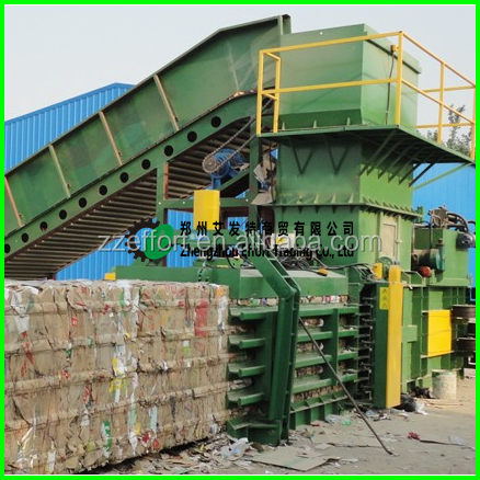 2017 Hot sale waste paper baling press, Waste Paper Bale Pressing Machine