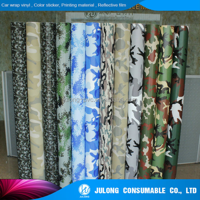 Camouflage vehicle vinyl wrap films in all available colors with Air Release channel/camouflage film sticker