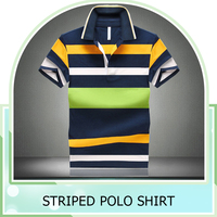 Wholesale Custom Polo T shirt 2016 New Design Cotton Short Casual Striped Slim Contrast Color Men's Polo Shirt