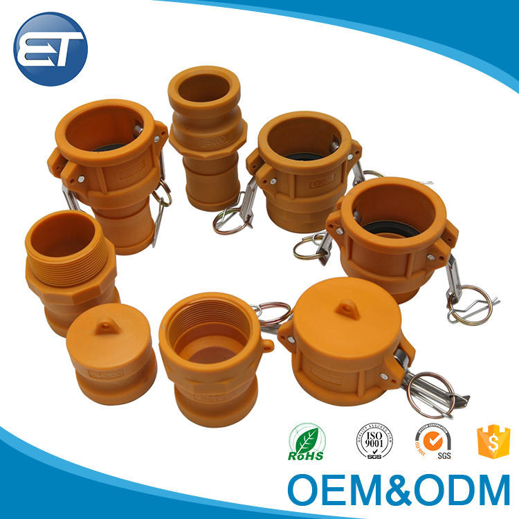 EASTOP Water Nylon or Brass PP camlock quick coupling water pump male & female coupling