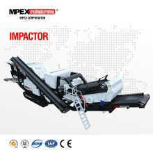 MPEX portable mobile impact crusher plant for construction waste recycling, demolition, limestone crushing plant