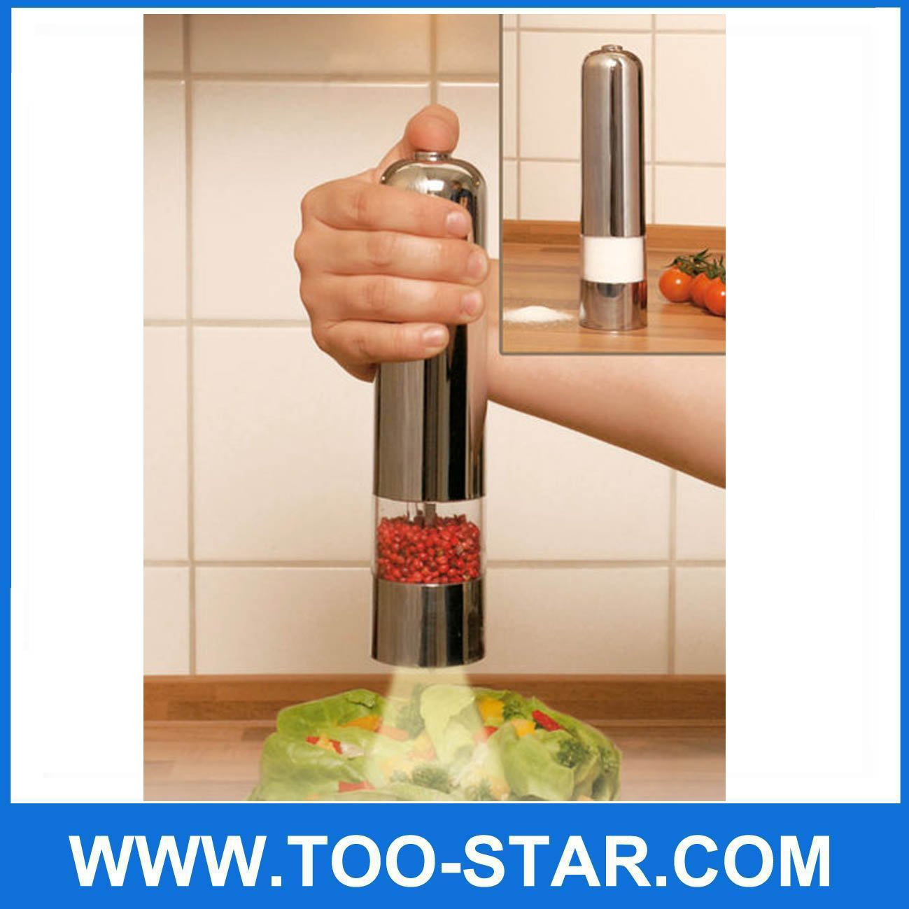 Electric Peppermill Pepper Mill Sea Salt Spices Grinder