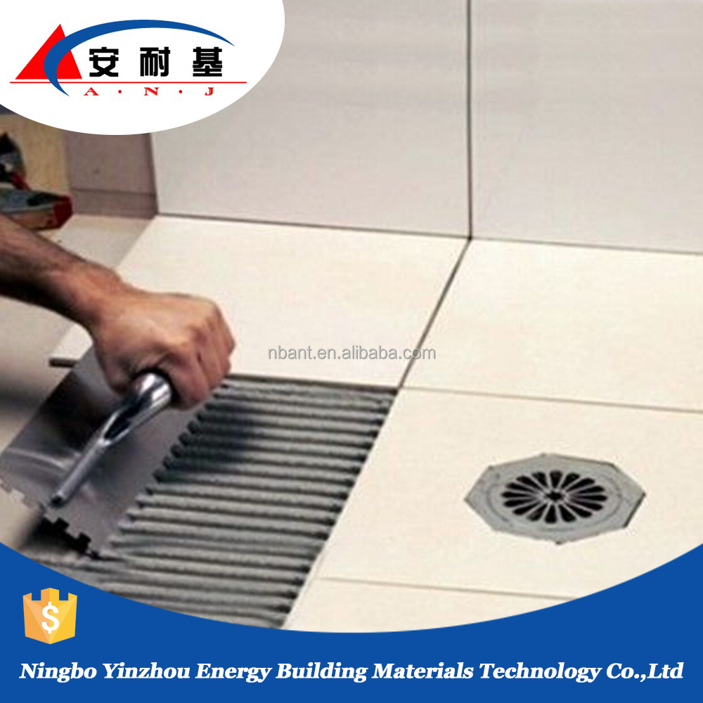 polymer modified cement based waterproof bathroom floor tile adhesive