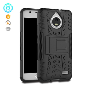 wholesale stock case TPU PC rugged anti gravity phone cover case for moto e4 with kickstand