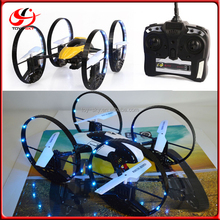 Hottest 2.4G 4CH 6Axis 2 IN 1 Speed Switch 3D Flips multicopter rc Camera Drone Bettery than Syma X9 Flying Car