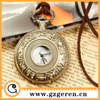 210o 12 Constellations 2014 Hot Bulk Buy From China Online Hollow Out Bronze Anitque Big Quartz Pocket Watches