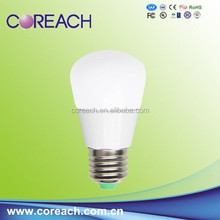 Ac85-265v DC12V led bulb light 3w with E27 base and DC12V energy saving e27 ul approved led light bulbs Coreach