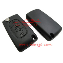 3 button Fiat modified folding case remote key shell without logo