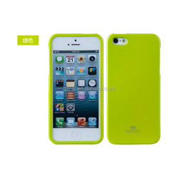 Most popular best quality Durable cellphone mercury jelly case for IPHONE 5