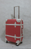 new design vintage style pp trolley luggage with tsa lock and striped printing