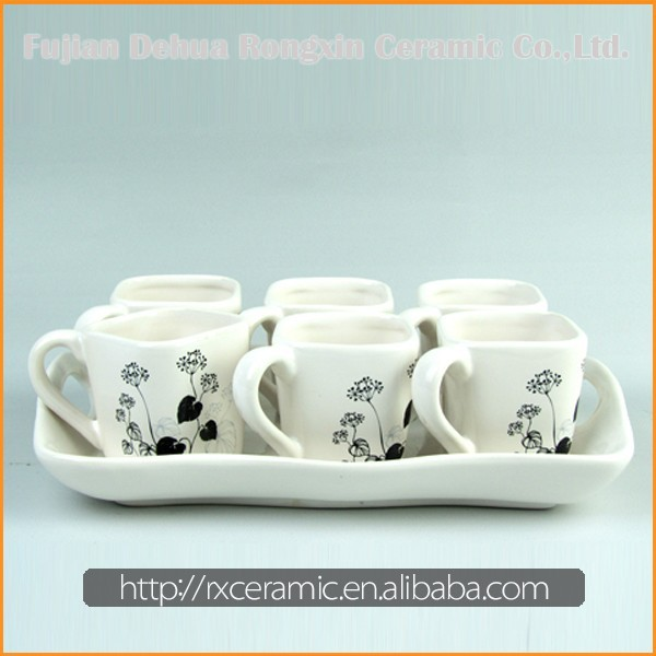 China Factory Direct Sales Top Quality white porcelain teapot set